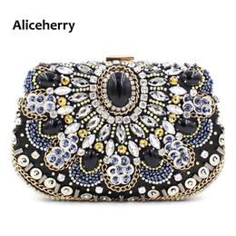Wholesale designer handbags crystal - Aliceherry Designer Handbags High Quality Women Evening Clutch Bags Ladies Crystal Beaded Diamond Wedding Party Cheongsam Bag