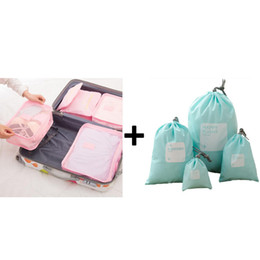 bagagli di viaggio pieghevoli Sconti IUX Travel Mesh Bag Luggage Organizer Packing Uomini e Donne Borse da viaggio Borse da viaggio Imballaggio Cubi Organizer Sacchetti per borse pieghevoli