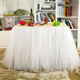 botín de mesa de bodas de oro Rebajas Fuente de la boda romántica del banquete de boda de la estación del postre Gasa decoración faldas de mesa para la decoración del banquete de boda de la venta caliente