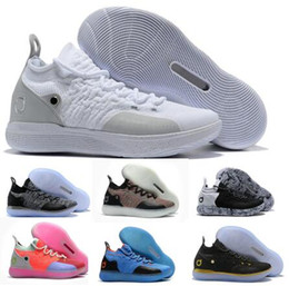 the latest 19f44 6c34a Sale Kd 11 Basketball Shoes Sneakers Men Women Youth White Paranoid Persian  Violet PE Fly Kevin Durant 11s XI 2018 Oxford Sports Shoe