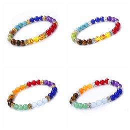 bracelets pour femmes poignets Promotion 7 chakra bracelets guérison équilibre perles bracelet yoga énergie de vie pierre naturelle bracelet femmes hommes bijoux occasionnels