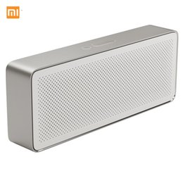 Wholesale Square Mp3 - Original Xiaomi Square Box Bluetooth Speaker 2,Aux-in USB Interface,1200mAh High Capacity Battery,Built-in Microphone,Two Driver