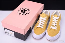 Wholesale Hip Sneakers - 2018 Conversed Tyler The Creator X Conve One Star X Golf Le Fleur TTC Solar Yellow Sneakers Trainers Shoes Canvas Shoes for Hip Hop with Box