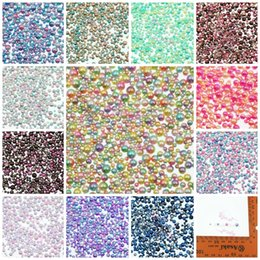 Canada 1000 pcs / Lot Mix Taille Full Circle Faux Perle Sirène Gradient Couleur Changeant Ornements Ball No Trou 3D Nail Art Manucure Artisanat supplier color changing ornaments Offre