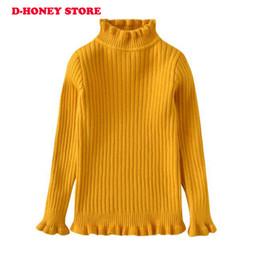 vestiti di caramella di cotone Sconti 2018 New Baby Abbigliamento per bambini Ragazze Candy Color maglia maglione Bambini primavera autunno cotone esterno Wear Girl Pullover