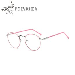 Wholesale Clear Framed Nerd Glasses - 2018 Classic Retro Clear Lens Nerd Frames Glasses Men Women Optical Acetate Prescription Spectacle Square Metal Eyewear Frame