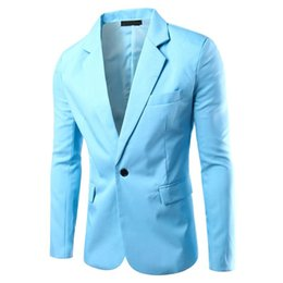 c8adb53f3940d New Latest 8 colors Mens Slim Wedding Groom Suits Teens Fashion Blue Formal  Suit Jackets Male white blue Blazers Plus Size 3XL