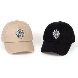 Wholesale Crazy Woman - Rick And Morty New Khaki Dad Hat Crazy Rick Baseball Cap American Anime Cotton Embroidery Snapback Anime Lovers Cap Men Women