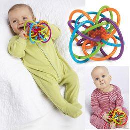 Canada 0 -12 mois bébé jouet bébé balle jouet hochets développer bébé intelligence jouets en plastique main cloche hochet Wj266 cheap rattle balls Offre