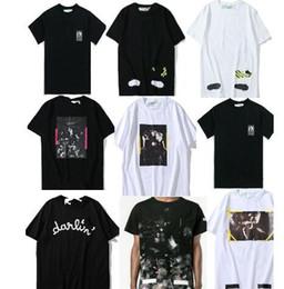 Wholesale mixed prints - 2018 T shirt mix 18 styles Classic Narciso Virgil Abloh Classic Short sleeve Tee size S-XL Cotton Fashion Print designer T shirt
