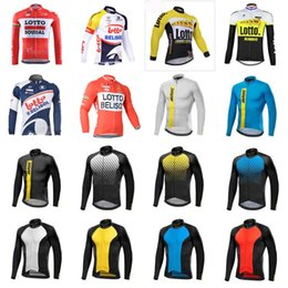 Wholesale Cycling Team Jerseys Cheap - 2018 MAVIC LOTTO team Cycling long Sleeves jersey pro team cheap-clothes-china bicycle Outdoor sportswear Lycra D1009