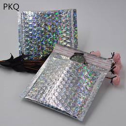 пластиковый зарядное устройство для мобильного телефона Скидка 100 шт./лот 15*13 см лазерный Серебряный пузырь почтовики мягкие конверты упаковка доставка сумка почтовый конверт Курьер сумка