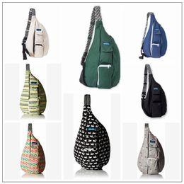 Wholesale adjustable bag - 13 Colors Kavu Rope Designer Bag Unisex Outdoor Sports Fashion Canvas Chest Pack Adjustable Shoulder Strap Bags CCA10051 10pcs