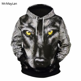 65cdef28c53 Cool 3D Print Snow Wolf Head Jackets Men Women Hiphop Hipster Pullover  Hoodies Boys Streetwear Oversize Black Sweatshirts Coat