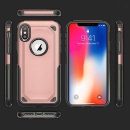 2019 caso de carregamento do iphone 6s Híbrido tpu + pc 2 em 1 de carregamento sem fio com o caso para o iphone x 8g 7 plus 6 6 s samsung s8 plus note8 à prova de choque armadura anti-slip caso de carregamento do iphone 6s barato