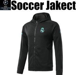 Wholesale Flash Jackets - CR7 Ronaldo Bale Asensio SERGIO RAMOS Real Madrid football soccer jacket tops hoodie hoody sweater tracksuit training sportswear top quality
