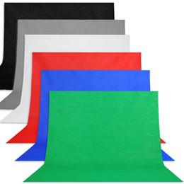 Fondos de video online-100 * 160 cm Tela sin tejer Fondo de telón de fondo de tela no tejida Tela negra para fotografía de estudio Grabación de video y TV