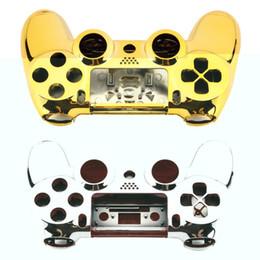 2019 calcomanías para xbox one Completo carcasa carcasa carcasa piel tapa botón conjunto con botones completos Mod Kit reemplazo para Playstation 4 controlador PS4 astilla de oro