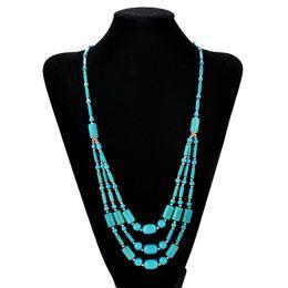 contas de pedra longa Desconto Venda inteiraNatural Stone Beads Gargantilha Colares Declaração Colares Longo Colar de Pingente de Mulheres Jóias Presente Collares