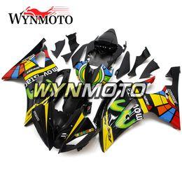 kit carenado yamaha r1 morado Rebajas Carenados de carrocería de diseño de color negro Carenados de ABS de motocicleta para Yamaha YZF600 R6 2008 - 2016 2009 2010 2011 2012 2013 2014 2015 Carenado de carrocería