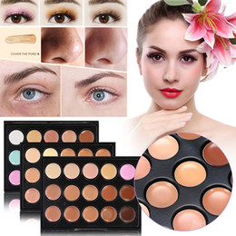 Wholesale palette corrector makeup - Popfeel Brand 15 Mini Colors Base concealer Makeup Foundation Face Contour Palette Bronzer Corrector Primer MakeUp Contouring