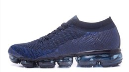Wholesale A1 Rubber - 2017 New Rainbow VaporMax 2018 BE TRUE Men Woman Shock Running Shoes For Real Quality Fashion Men Casual Vapor Sports Sneakers A1