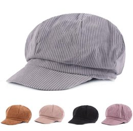 916eb1192a4 Women Octagonal Hat Corduroy Female Cotton Newsboy Caps Ladies Warm Retro  Painter Cap Adult Octagonal Hat Cap Autumn Winter