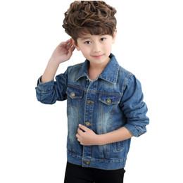 51bc69668dc6 Mode Kinder Denim Jacken 2018 Casual Jungen Jeans Oberbekleidung Kinder  Tops Mäntel Herbst Große Jungen Jacke BC331