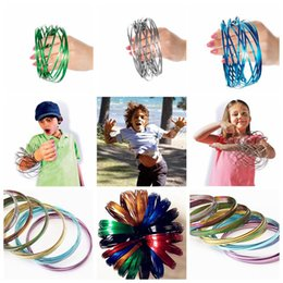 Wholesale ring rainbow - Metal Toroflux Rainbow Colorful Flow Ring Toy 10 Colors Holographic by While Moving Creates a Ring Flow Kinetic Toys OOA4717