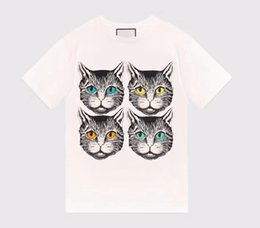 Wholesale Reversible Hoodies - 2018 Luxury brand Designer Original with logo lovers unisex cat head G girl T-shirt cotton couple boy girl boy mens hoodie jerseys K