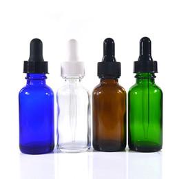 amostra de água livre Desconto 100 pcs * 30 ml 1 oz âmbar claro azul verde boston frasco conta-gotas de vidro com tampa de segurança elíquido childproof ejuice garrafa de óleos essenciais
