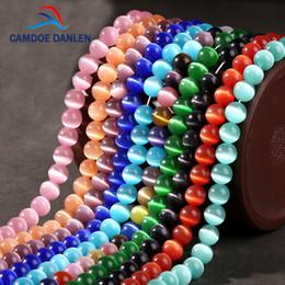 Canada Haute Qualité Cat Eye Beads 4mm 6mm 8mm 10mm 12mm Verre Naturel Chaîne Lâche Espace Opale DIY Bijoux Fabrication Bracelet 3 Pcs / 1 lot en gros Offre