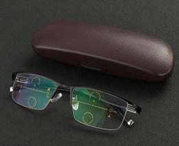Occhiali da sole per esterni Half Frame Transition Fotocromatica Progressiva Multi Focus Occhiali di lettura diottrica UV400 Occhiali da sole +1.00 +1.25 ~ +3.00 da mezzo telaio lettura occhiali uomini fornitori