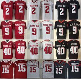 Maillots de football universitaire du Texas AM Aggies 15 Myles Garrett 2 ? partir de fabricateur