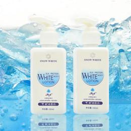 2019 bottiglie di imballaggio in plastica d'argento all'ingrosso 180ml Snow White 100% Volto Originale Whitening Cream e pelle Body Lotion Cura del corpo Crema DHL freeshippng