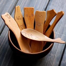 2020 colher de animais de madeira Novidade De Madeira Sorvete Colher Bonito Animal Colher para Crianças Sorvete Sobremesa Colher De Madeira Acessórios de Cozinha desconto colher de animais de madeira