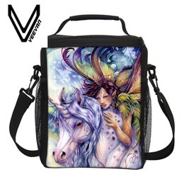 Wholesale Blue Desserts - Wholesale-3D unicorn Dessert coffee office pouch Thermal Insulated Neoprene Lunch Bag Women Kids Lunchbags Cooler Insulation Lunch Box