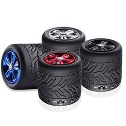 Wholesale tire usb - Tire Bluetooth Speaker Outdoor Tyre Design Stereo Speaker Portable Mini Wireless Bass Subwoofer Hands-free Calling TF Card Speaker