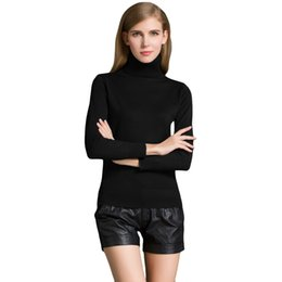 Wholesale White Oversized Sweater - Wholesale-Fashion Autumn Winter Oversized Sweater Women Turtleneck Long Sleeve Knitted Sweaters And Pullovers Warm Slim Jumpers Pull Femme
