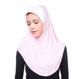Sombrero de las mujeres islámicas online-Mujeres musulmanas Hijab interior del casquillo del pañuelo islámico completo sombrero de la cubierta Underscarf Headwear chal
