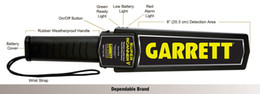 Wholesale security scanners - Free Shipping Sensitive Garrett New Super Scanner V Hand Held Security detector Search Metal Detector Wand