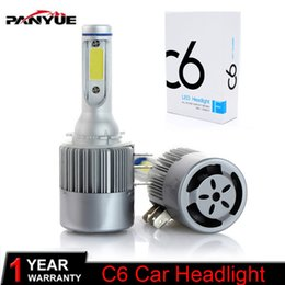 Luces de conducción de bmw online-2x H15 H7 H4 LED Bombilla 72W 7600LM Lámpara de faros de coche inalámbrico DRL Conversión luz de conducción Sourcing 6000K para VW Audi BMW