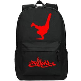 Hip-hop-tanzschule online-Brechen Rucksack Hip Hop daypack Straßentanz Schulranzen Coole Freizeit Rucksack Sport Schulranzen Außentagesrucksack