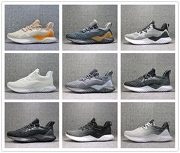 Wholesale alpha red - 2018 Kolor Alphabounce Beyond Boost 330 Running Shoes Alpha bounce Hpc Ams 3M Sports Trainer Sneakers Man Shoes With Box Size 7-11