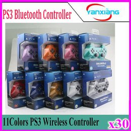 Wholesale Ps Controller Bluetooth - Bluetooth Wireless Controller for PS3 free shipping with retail package 30 pcs YX-PS-03
