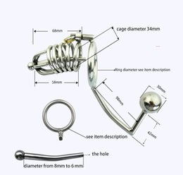 Wholesale Cock Ring Anal Lock - Free shipping!!!Multifunction Male Chastity Lock With Anal Hook,Penis Ring,Chastity Lock,Chastity Belt,Cock Ring,Anal Sex Toy,Adult Game
