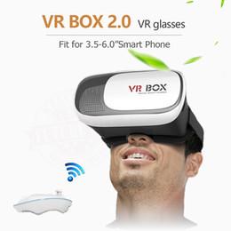"Google cartón bluetooth online-2017 nuevo cartón de Google HeadMount VR BOX 2.0 VR vidrios virtuales 3D para 3.5 ""- 6.0"" teléfono inteligente + control remoto Bluetooth"