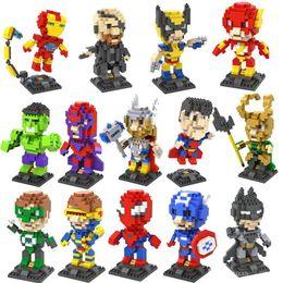 Argentina LOZ Diamond Block Set 8.5 CM Caja Nanoblock Avengers Hombre araña Iron Man Hulk Superman Cartoon 3D Bloques de construcción Serie de regalo Juguetes para niños Suministro