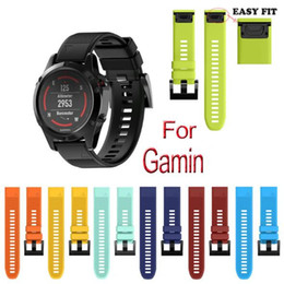 Wholesale Fits Silicone Wristbands - Sport Silicone Replace Band For Garmin fenix 5 5s 5x Smart Watch Heart Bracelet Straps environmentally materials Belt easy fit GSZ424