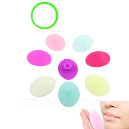 Wholesale Exfoliating Pads - 30F# Facial Exfoliating Brush Infant Baby Soft Silicone Wash Face Cleaning Pad Skin SPA Scrub Cleanser Tool